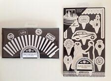 MR & MRS matrimonio Top cake topper pop più chic Fata Torta Wraps Black & White