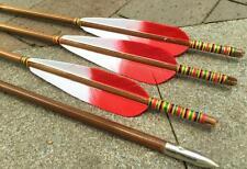 6 Stk. Bambuspfeile, Holzpfeile, Spine 35-50, Bogensport, Truthahnfedern