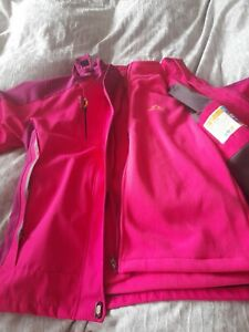 Pink Sports Outdoor Jacket M/L Peak Performance Hooded Wind Waterproof BNWT