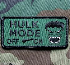 HULK MODE ON ARMY USA MILITARY MORALE COMBAT BADGE GREEN HOOK & LOOP PATCH