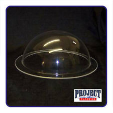 CLEAR PERSPEX ACRYLIC PLASTIC DOME WITH FLANGE HEMISPHERES 50mm-700mm DIAMETERS