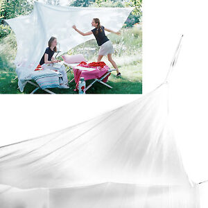 Large Mosquito Net for Indoor Outdoor Camping Netting Canopy Tent Queen King Bed