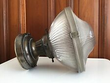 Vintage HOLOPHANE Light Fixture INDUSTRIAL Pendant Ceiling Lamp ART DECO Shade