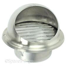 Acier Inoxydable Mur air vent sèche-linge extracteur Bull nez Insecte Maille 125mm