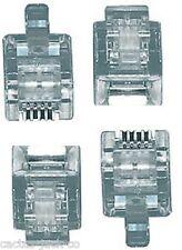 4 x NUOVO modulare RJ12 6/6 telefonica plug per cavi piatti