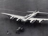 B&W Photo Boeing B-17 Prototype at Factory  WWII WW2 World War Two Flying Fort