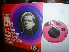 """Long John Baldry, It's too late now, long and lonly night, German PYE 1969, 7"""""""