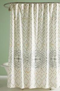 NEW Anthropologie Pointiliste Shower Curtain