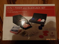 3 in 1 Poker and Blackjack Set - Table Game