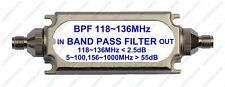 SMA connector bandpass filter BPF 118-136MHz for Air band