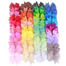 40Pcs Baby Girl Rib Ribbon Bowknot Boutique Hair Bows Teens Baby Girls Headwear