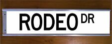 RODEO DR STREET SIGN ROAD BAR SIGN - BEVERLY HILLS CALIFORNIA GIFT AMERICANA