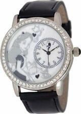 Authentic Disney Alice In Wonderland Rhinestone Accent Leather Watch AL1000