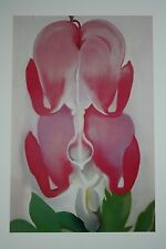 Georgia O'Keeffe Art Print Bleeding Heart 16x12 Book Print 1976 RARE