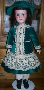 """HARD TO FIND ANTIQUE ARMAND MARSEILLE 390 WALKER DOLL - 23"""" HEIGHT"""