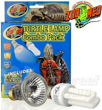 Zoo Med Turtle Lamp Combo Pack 50W Repti Tuff Halogen Reptisun 13W PC 5.0 UVB