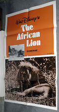 THE AFRICAN LION original DISNEY 27x41 one sheet movie poster
