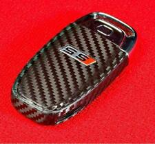 Carbon Fiber Key Audi A4 A5 8K RS S Decal Sticker Decor Coating Fob Wrap Cover
