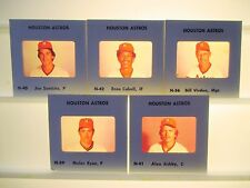 1980 MLB Made TV card /slide team Lot 5 Houston Astros Nolan Ryan Sambito Cabell