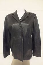Banana Republic Fine Black Leather Blazer Cut Women's Jacket Size Medium LOOK