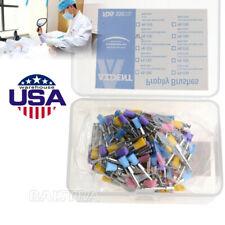 100x Dental Colorful Nylon Bowl Polishing Polisher Prophy Brush Flat Type Prophy