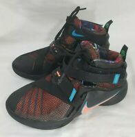 Nike Lebron James Boys Sneakers, Size 6.5Y, Soldier IX Basketball Shoes, Black