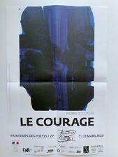 Pierre Soulages - Le Courage - affiche le Printemps des poètes