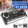 61 Tasten Elektrische Klavier Keyboard E-Piano Einsteigerkeyboard für Kinder U
