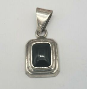 SILPADA STERLING SILVER AND BLACK ONYX PENDANT