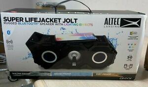 New Black Altec Lansing Super LifeJacket Jolt with Lights, Built in Qi