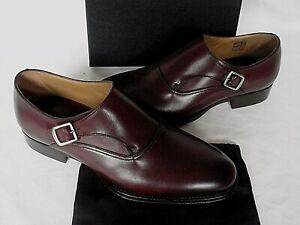 NEW MENS Dunhill Dark Brown Calf Monkstrap Leather Shoes UK 8 EU 42 RRP £495