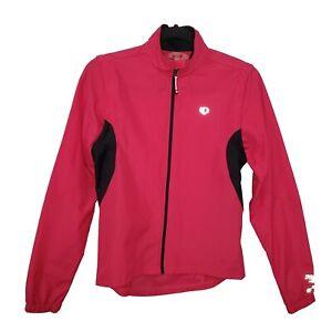 PEARL IZUMI Sz S Select Series Pink Black Convertible Jacket Vest Barrier Biking