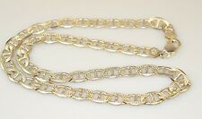 MENS HEAVY STERLING SILVER ANCHOR CHAIN NECKLACE ITALY 20.5 INCHES 42.6 GRAMS