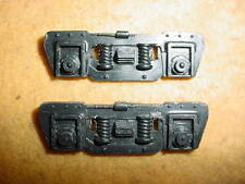 MARX O27 TRAINS BLACK PLASTIC F TYPE TRUCK SIDES (2) DELUX CAR TRUCK SIDE PARTS