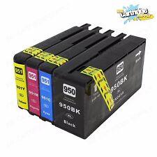 4PC ink cartridges for HP 950XL 951 XL OfficeJet Pro 8100 8600 8630 8625