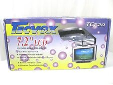 "Tecvox 7.2"" LCD Flip Down Mobile Video Monitor TC720 NEW OLD STOCK"