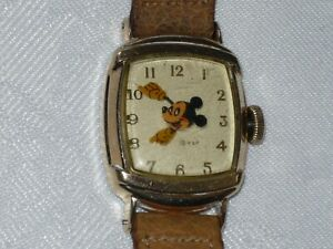 RARE 1946 KELTON/US TIME FLOATING HEAD MICKEY MOUSE WATCH RUNS AND LOOKS EXC!