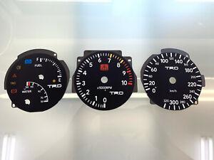 Toyota Supra MK4 IV TRD LHD 320 km/h dials Tachoscheiben