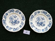 "4 Malvern Blue Floral Windsor ware Johnson Brothers 6 3/8"" Bread Butter Plates"