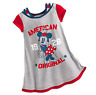 Disney Minnie Mouse Americana Nightshirt for Girls 4 Gray Red Blue NEW