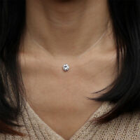 Translucent necklace base invisible line floating illusion stainless steel 4,5mm