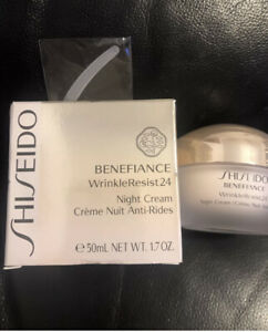 SHISEIDO BENEFIANCE WRINKLE RESIST 24 NIGHT CREAM 1.7 OZ. BOXED & SEALED