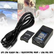Mini Localizzatore GPS per cani Gps per auto Spia SIM bug registra audio GSM Spy