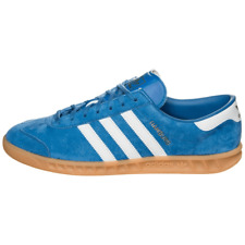 ADIDAS HAMBURG BLUEBIRD S76697 BLUE WHITE GUM CASUALS STRIPES