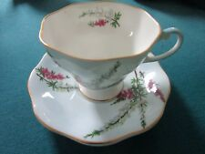 "FOLEY BONE CHINA ENGLAND ""HIGHLAND HEATHER"" CUP AND SAUCER [*102]"