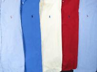 Lot Of 5 Ralph Lauren Polo Long Sleeve Button Front Shirts Mens 17 XL 2 NWOT