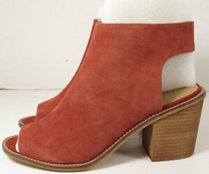 Chinese Laundry Womens Calvin Peep Toe Bootie Shoes, Brandy, US 9