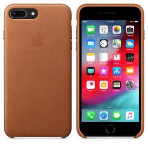 Apple iPhone 7 Plus / 8 Plus Genuine Original Leather Cover Case - Saddle Brown