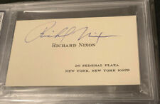 Business Card Signed Autograph President Signature Richard Nixon Psa Certified