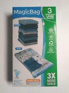 Magicbag Instant Space Magic Bag 3 Pk Heavy Duty Lg Waterproof Storage Flats
